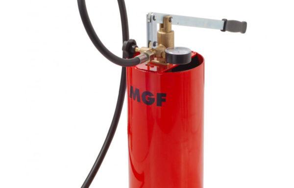 Ręczna pompa do badania ciśnienia z pionowym zbiornikiem 12 litrowym próby kontrolne do 60 bar