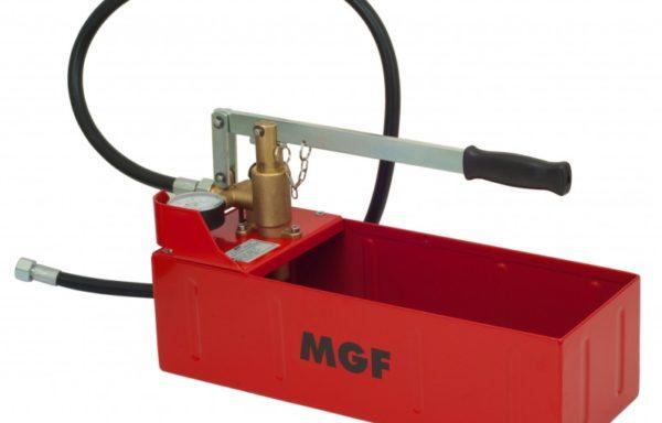 Ręczna pompa do badania ciśnienia z poziomym zbiornikiem 12 litrowym próby kontrolne 60 bar i 120 bar