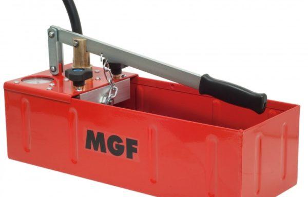 Ręczna pompa do badania ciśnienia dwu-zaworowa z poziomym zbiornikiem próby kontrolne do 60 bar