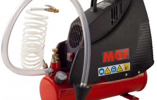 Przepychacz hydrauliczny serii BLITZ marki MGF. Pneumatyczny kompresor ciśnieniowy