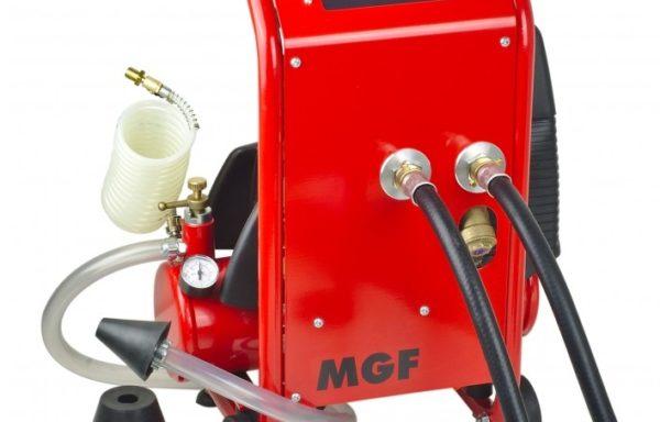 Kompletne urządzenie do płukania, dezynfekcji i testowania systemów wodociągowych i grzewczych oraz do usuwania blokad w rurach serii TWISTER marki MGF