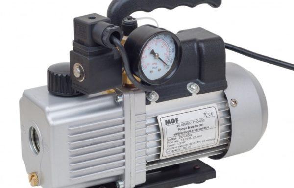 Pompa próżniowa dwustopniowa do klimatyzacji z manometrem próżniowym i zaworem elektromagnetycznym serii EASTERN COOL firmy MGF